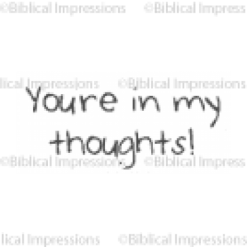 In My Thoughts Unmounted Stamp