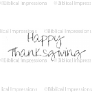 Happy Thanksgiving Unmounted Stamp