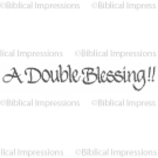 Double Blessing Unmounted Stamp
