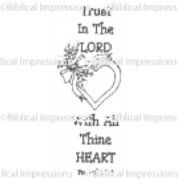 Trust in the Lord Unmounted Stamp