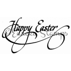 Happy Easter Script Stamp