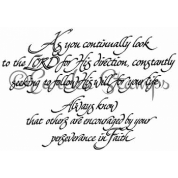 As You Continually Look Stamp