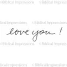 Love You Unmounted Stamp