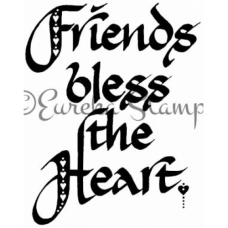 Friends Bless the Heart Stamp