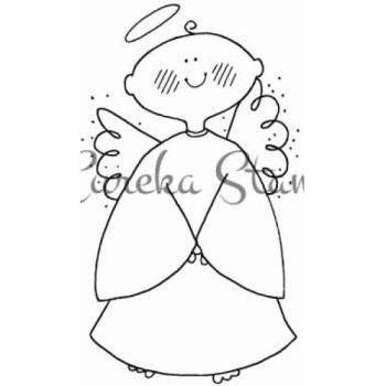 Baby Angel Arms Closed Stamp