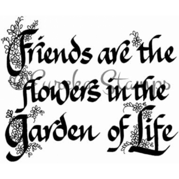 Friends Are The Flowers Stamp