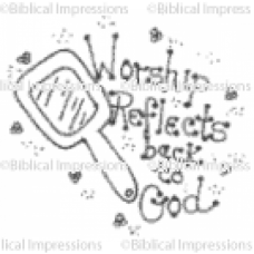 Worship Reflects Unmounted Stamp
