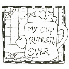 My Cup Runneth Over Stamp