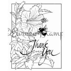 Thank You Hibiscus and Bee Framed Stamp ES-56201