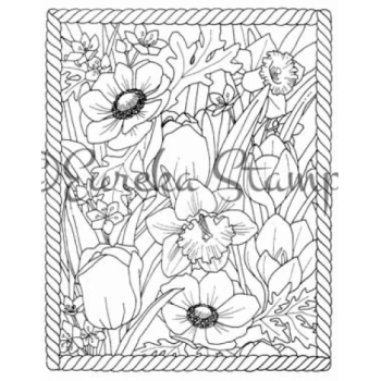 Frame Full of Flowers Stamp