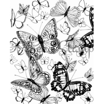 Butterfly Background Stamp