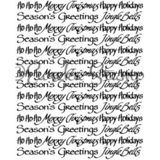 Merry Christmas Background Stamp