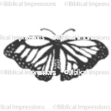 Lg Butterfly Unmounted Stamp