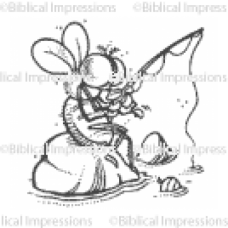 Fly Fishing Unmounted Stamp