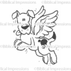 Angel Dog Unmounted Stamp