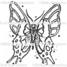 Cupids Quilt Butterfly Unmounted Stamp