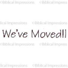 We Moved Unmounted Stamp