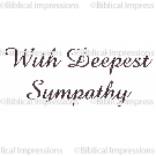 With Deepest Sympathy Unmounted Stamp