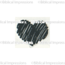 Tiny Scribble Heart Unmounted Stamp