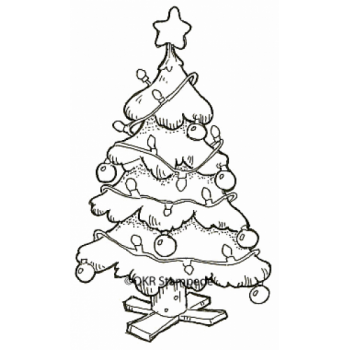 Decorated Tree Stamp