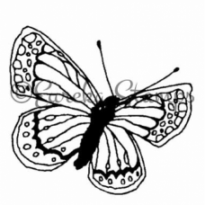 Sm Lined Butterfly Stamp