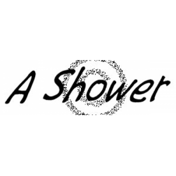 A Shower Cling Stamp