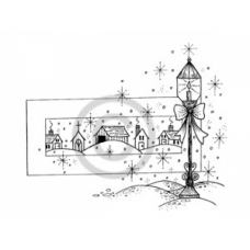 A Snowy Night Cling Stamp