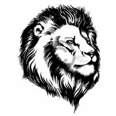 African King Cling Stamp