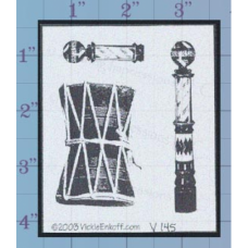 Musical Drums Unmounted Stamp