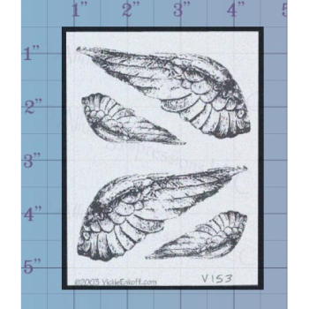Angel Wings Unmounted Stamp