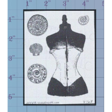 Dress Form Unmounted Stamp