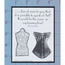 Corsets Unmounted Stamp