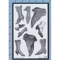 Shoes Unmounted Stamp