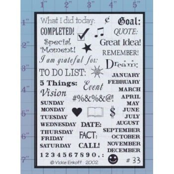 To do list Unmounted Stamp