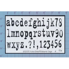 Alphabet Unmounted Stamp