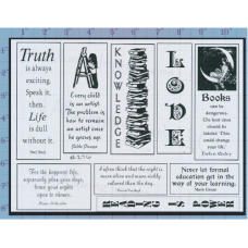 Books Life Knowledge Unmounted Stamp