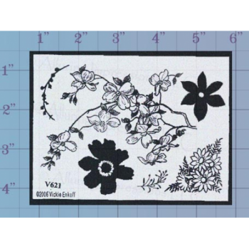 Blossoms Unmounted Stamp
