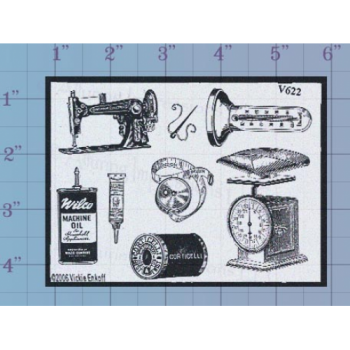 Sewing Accessories Unmounted Stamp
