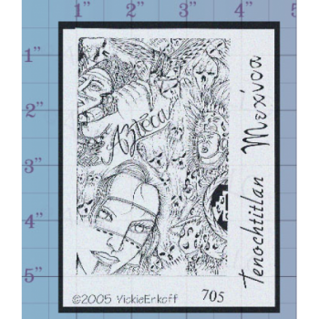 Aztec Collage Unmounted Stamp
