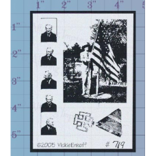Raising the Flag Unmounted Stamp
