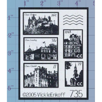 Castle Postage Unmounted Stamp