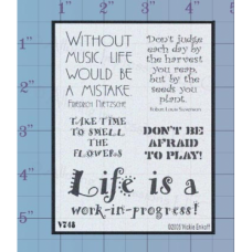 Without Music Unmounted Stamp