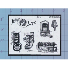 Café Unmounted Stamp