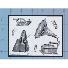 Music Dance Unmounted Stamp