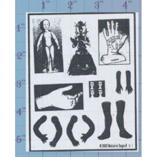 Doll Parts Unmounted Stamp