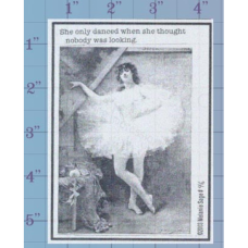 She Danced Unmounted Stamp