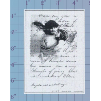 Angels are Watching Unmounted Stamp