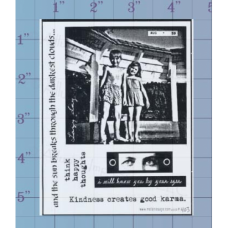 Think Happy Thoughts Unmounted Stamp