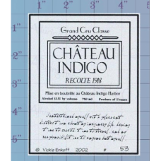 Chateau Indigo Unmounted Stamp