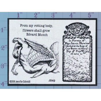 Tombstone Unmounted Stamp